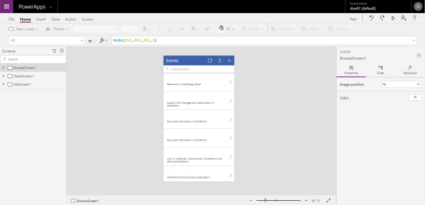 PowerApp from SharePoint list